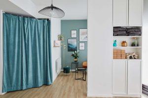 Vue du Studio de yoga à Paris espace salon